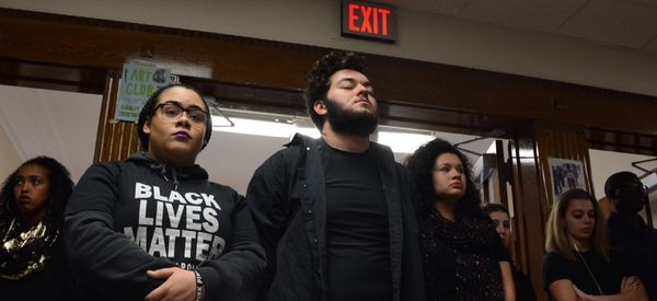 High Schoolers Stand With Black Lives Matter Activists In Minneapolis