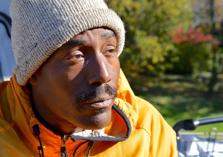 James Bannister has been living in a tent near the Watergate Hotel for nearly two months.