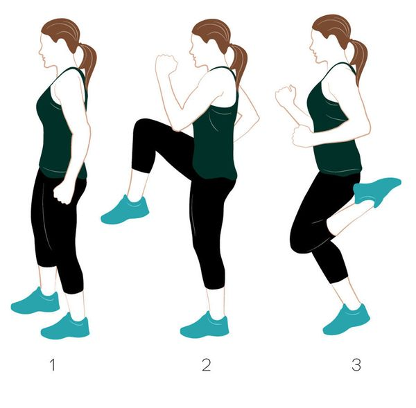 """This exercise is aptly named because you literally try to kick your heels to your butt -- and if you do it at the right pace"