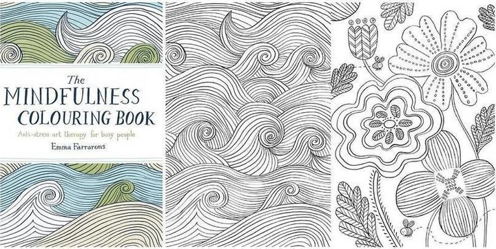 The Mindfulness Colouring Book Anti Stress Art Therapy For Busy People Emma Farrarons