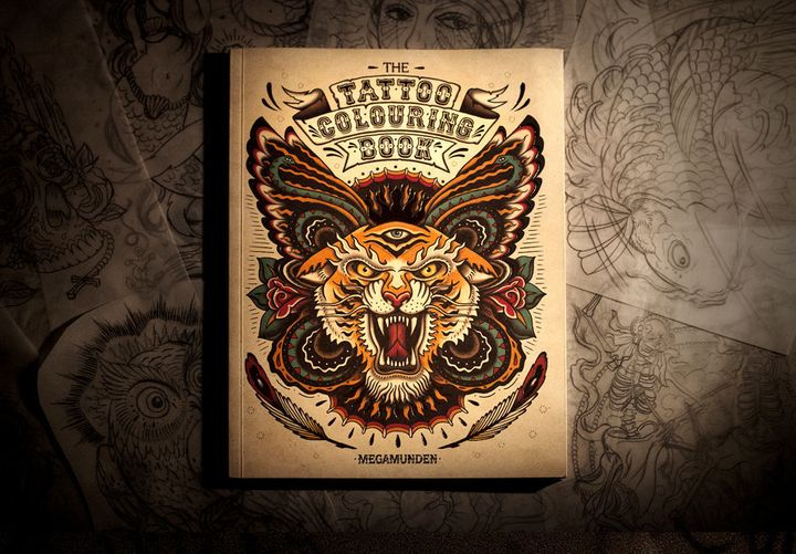 the tattoo colouring book - Tattoo Coloring Book