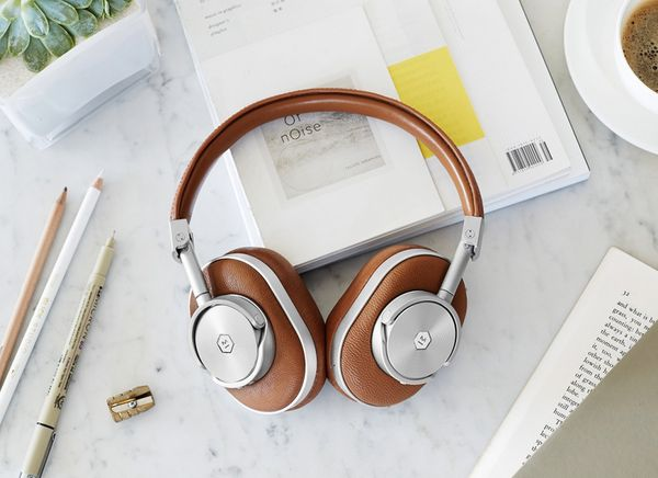 Crafted with stainless steel and real lambskin leather -- not plastic -- these wireless beauts could be considered the Rolls