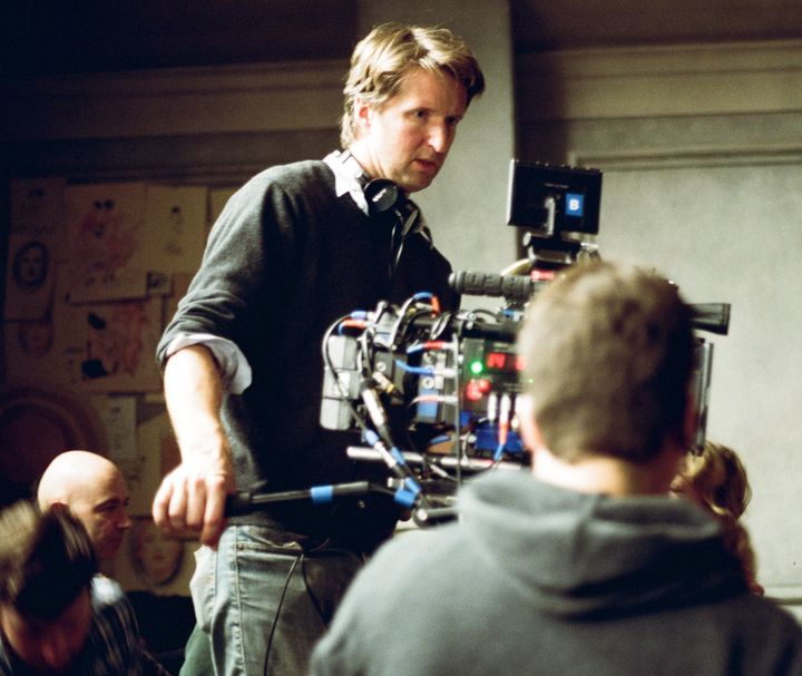 "Tom Hooper directs a scene in ""The Danish Girl."""