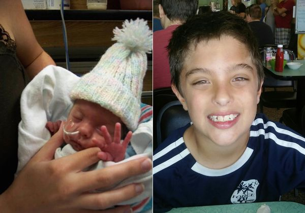 """My Talan was born 9 years ago at 26 weeks and two pounds, five ounces. He spent two months in the NICU and did exceptionally"
