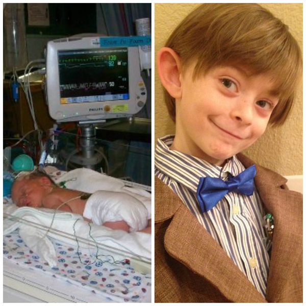 """Drew was born at 35 weeks. His lungs were failing him and he had a stay in the NICU. It was the longest two weeks for my hus"