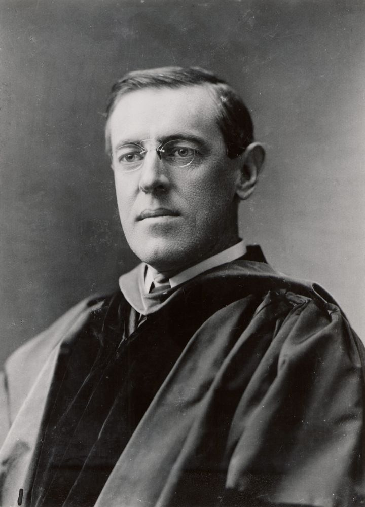 Wilson is seen here in 1903, during his time as president of Princeton University.