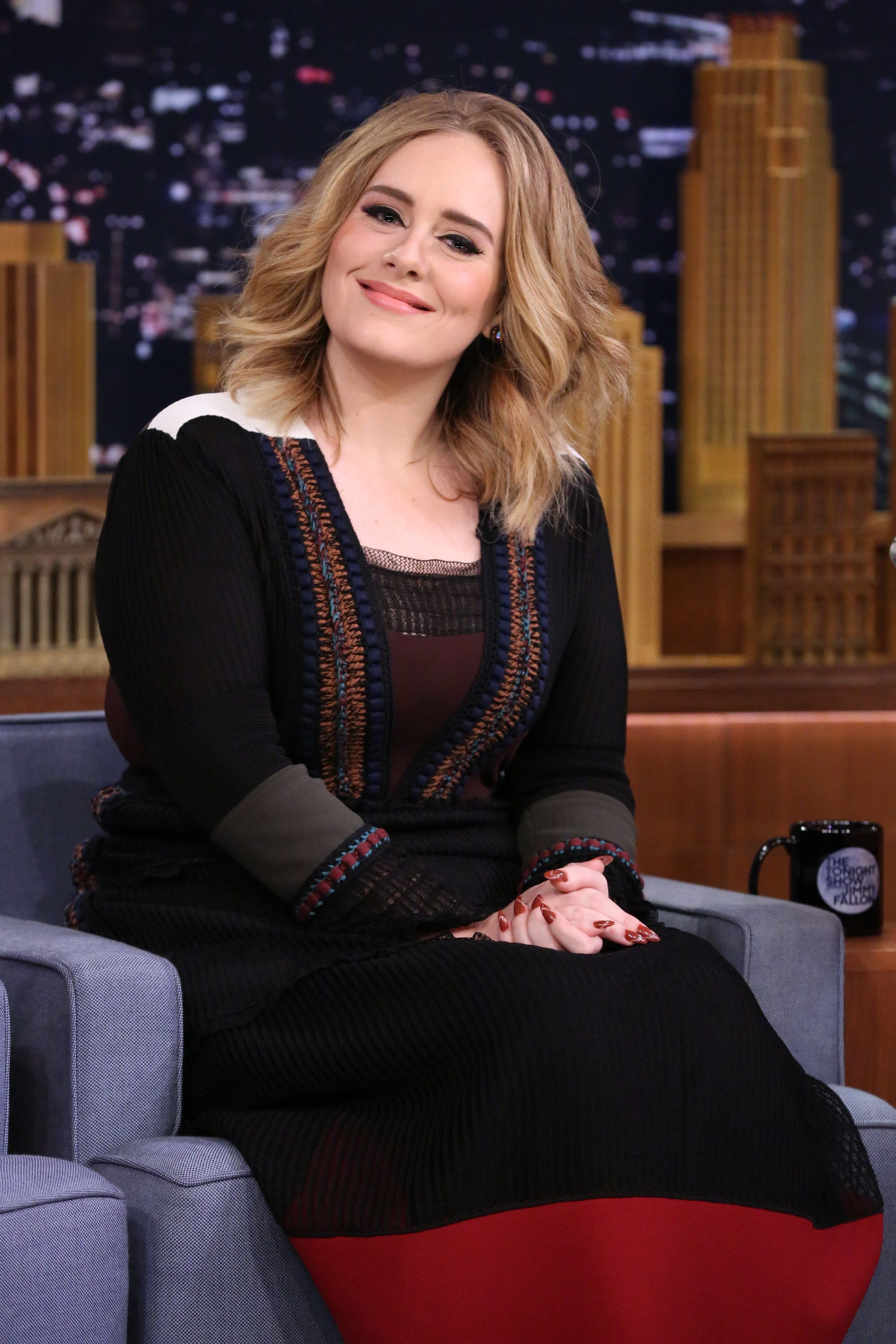THE TONIGHT SHOW STARRING JIMMY FALLON -- Episode 0373 -- Pictured: Singer Adele on November 23, 2015 -- (Photo by: Douglas Gorenstein/NBC/NBCU Photo Bank via Getty Images)