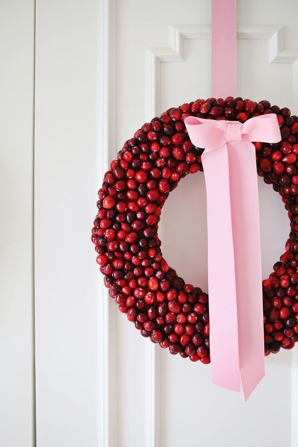 This homemade cranberry wreath is a wonderful way to involve the whole family in a project for your home. Simple and sop