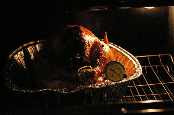 Your turkey will cook faster in a 325°F convection oven. <br><br> <strong>8lbs: 1.25 hours<br> 12 lbs: 1.75 hours<br> 14