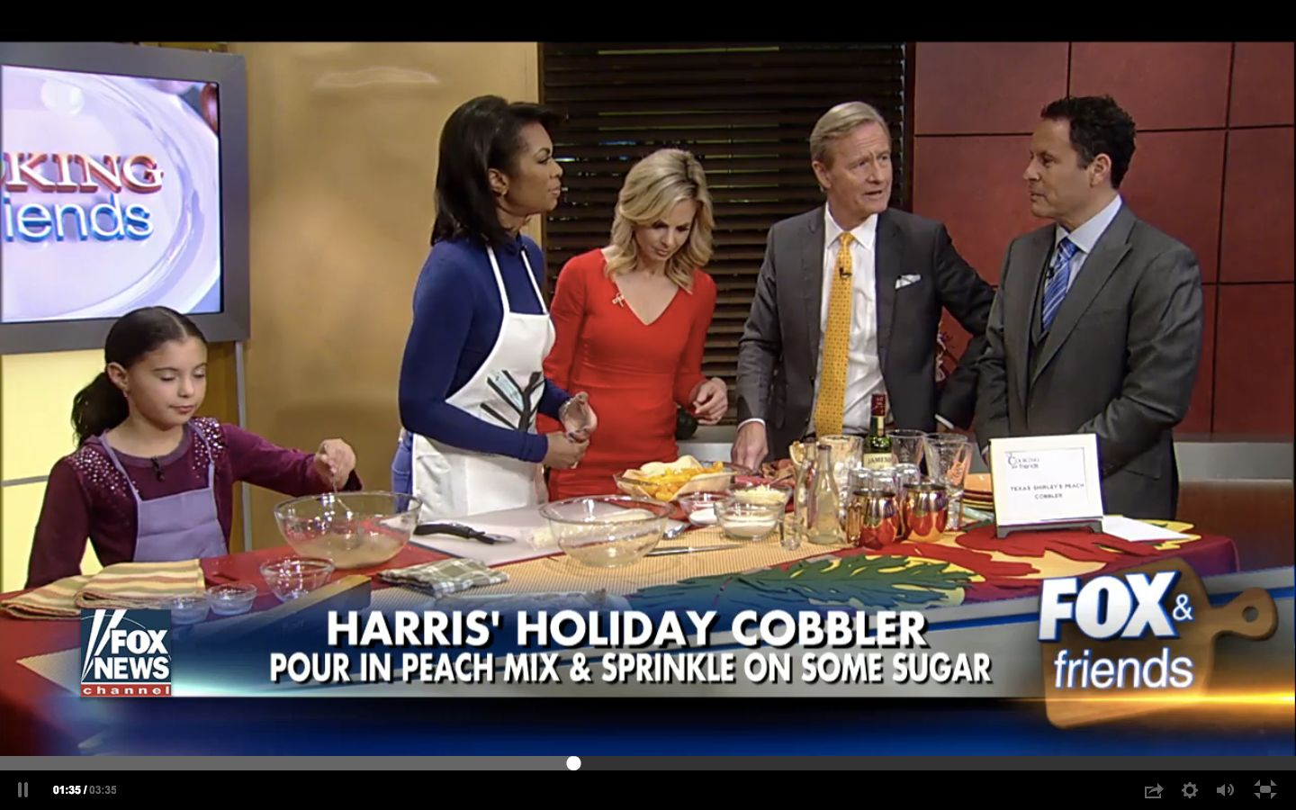 Harris Faulkner reacts to Brian Kilmeade's question on if she make Kool-Aid.