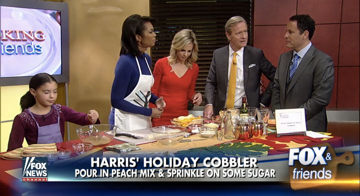 "Harris Faulkner reacts to Brian Kilmeade's question, ""Do you make Kool-Aid?"""