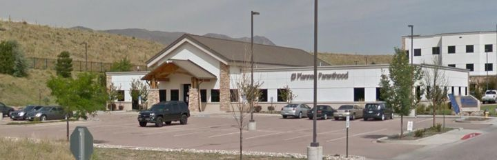 The Planned Parenthood building in Colorado Springs.