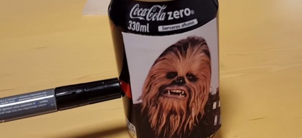 Watch This Coke Can's Uncanny Impression Of Chewbacca