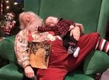 Baby's Sleepy Photo Shoot With Santa Will Melt Your Heart
