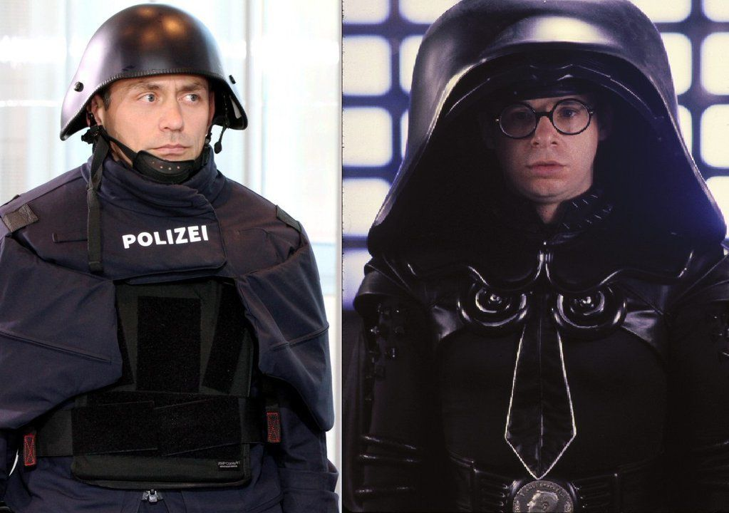 New Bavarian police gear.