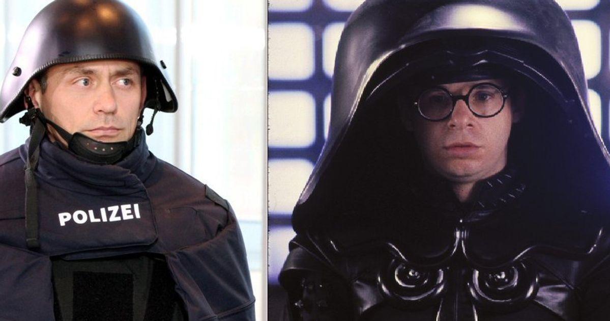 German policeman that looks like dark helmet.