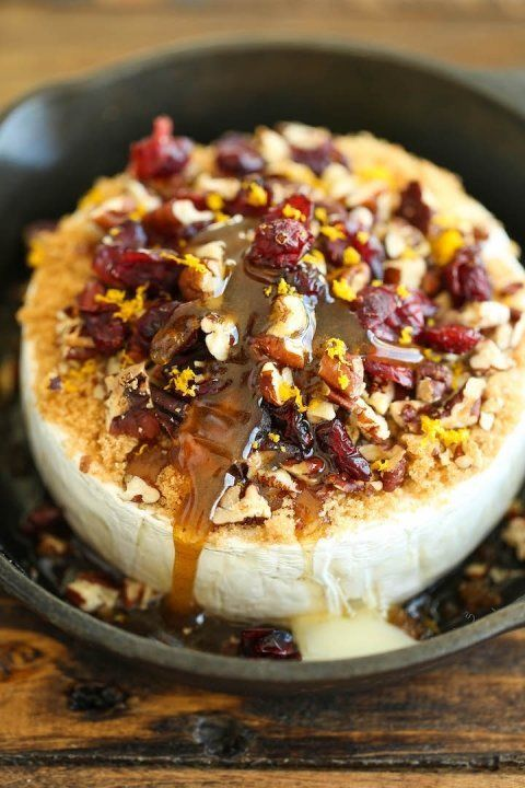 """<strong>Get the <a href=""""http://damndelicious.net/2015/11/22/cranberry-pecan-baked-brie/?m"""" target=""""_blank"""">Cranberry Pecan B"""