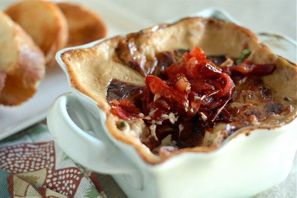 """<strong>Get the <a href=""""http://www.countrycleaver.com/2012/07/roasted-tomato-brie-dip.html"""">Roasted Tomato Brie Dip recipe</"""