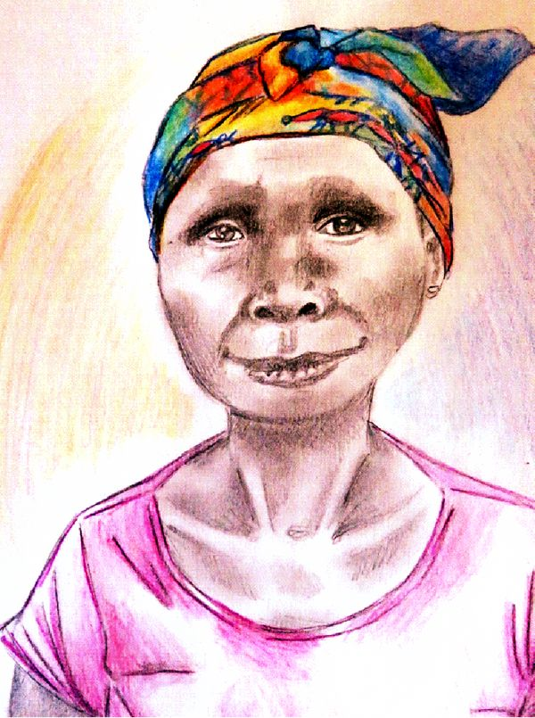 Christine was a gentle older woman who came from around 60 miles away with chronic diarrhea that left her thin and emaciated.