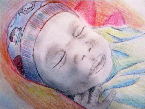 This drawing is not of a particular patient but one that represents the general success of our program. When HIV-po