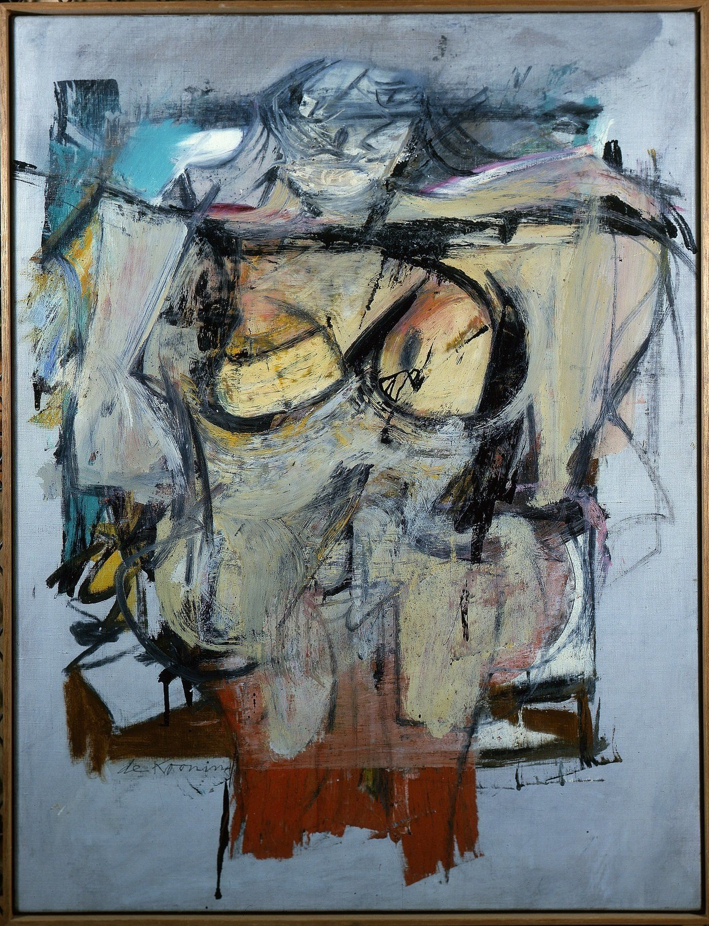 Willem de Kooning's <em>Woman — Ochre </em>(oil on canvas, 1954-55) has been missing for 30 year