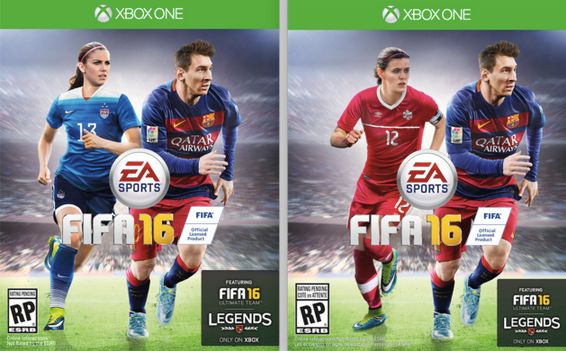 This year marked the first time in the history of the FIFA video game series that women were featured on the cover.