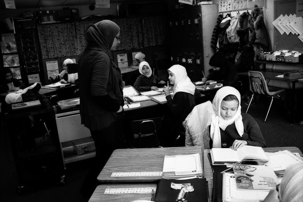 Young Girls Reading in Class, Aqsa School, Bridgeview, IL 2012