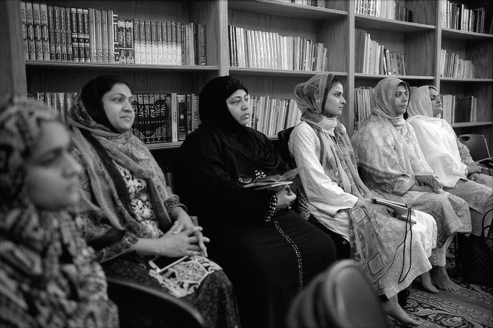 Women in Class Learning About Travel for the Haj, Islamic Center of Greater Oklahoma City, Oklahoma City, OK 2015