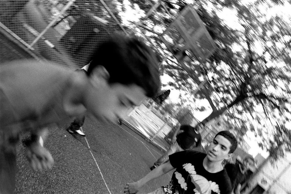 Fast Break During Basketball Game, Brooklyn, NY 2011