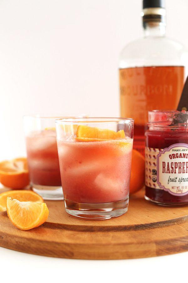 "<strong>Get the <a href=""http://minimalistbaker.com/winter-bourbon-smash/"" target=""_blank"">Winter Bourbon Smash recipe</a> fr"