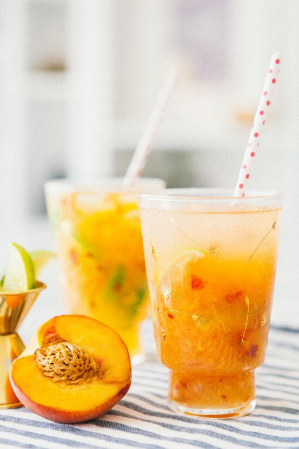 """<strong>Get the <a href=""""http://ahouseinthehills.com/2014/06/12/peach-mules/"""" target=""""_blank"""">Peach And Ginger Mules recipe</"""