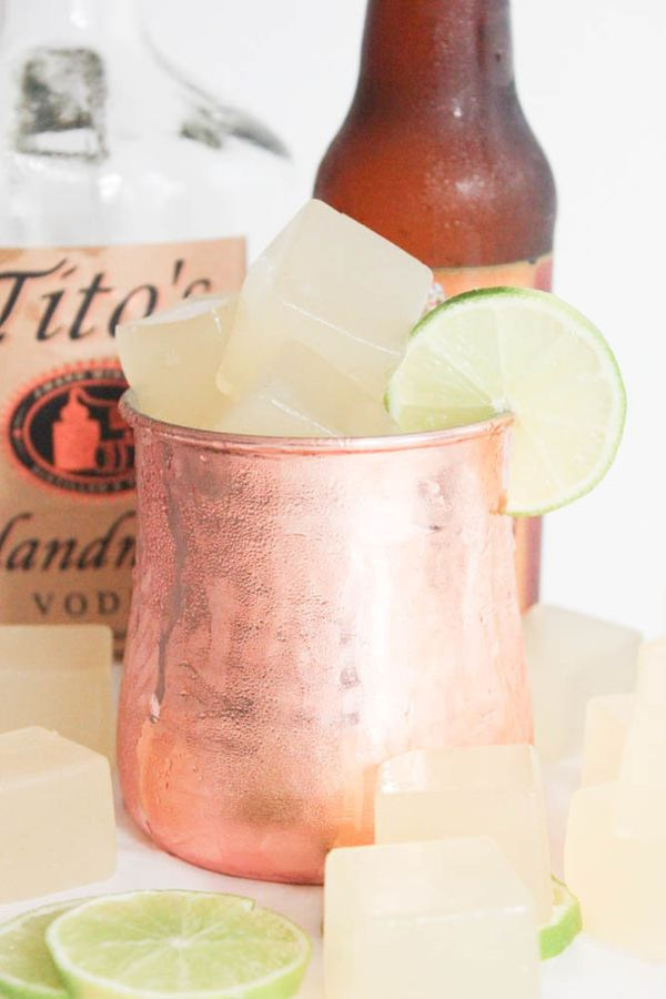 """<strong>Get the <a href=""""http://www.domesticate-me.com/moscow-mule-jello-shots/"""" target=""""_blank"""">Moscow Mule Jello Shots reci"""