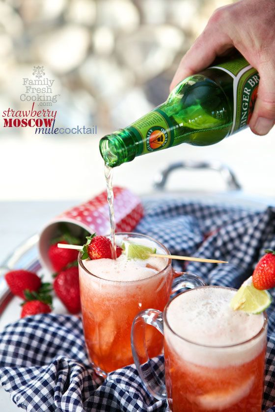 """<strong>Get the <a href=""""http://www.familyfreshcooking.com/2014/05/23/strawberry-moscow-cocktail-recipe/"""" target=""""_blank"""">Str"""