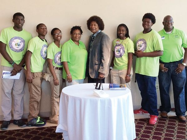 Bernice L. Frazier: Helping to share HIV awareness at a youth empowerment conference at Tuskegee University.