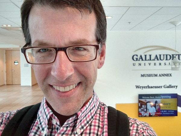Mark Byrd: In between classes at Gallaudet University, the world'€™s only university for the deaf. I am a 23-year long-term s