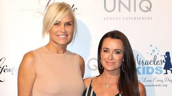 BEVERLY HILLS, CA - JUNE 19:  Tv personalities Yolanda Foster (L) and Kyle Richards attend Fashion & Music Make Miracles Benefiting Miracles For Kids at Kyle by Alene Too on June 19, 2014 in Beverly Hills, California.  (Photo by JC Olivera/Getty Images)