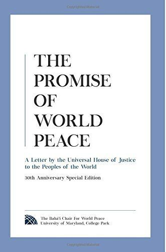 """First composed in 1985, <i><a href=""""http://www.amazon.com/Promise-World-Peace-Universal-Justice/dp/0989917096/ref=sr_1_2?amp="""