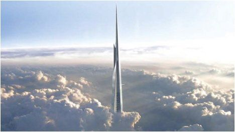 The 170-story building will be the first to reach 1 kilometer -- a little more than half a mile long. It's highest point is s