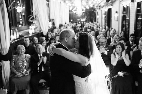 """You may now kiss the bride! Such a romantic ceremony on the rooftop terrace of the Gramercy Park Hotel."" - Jim Kennedy"