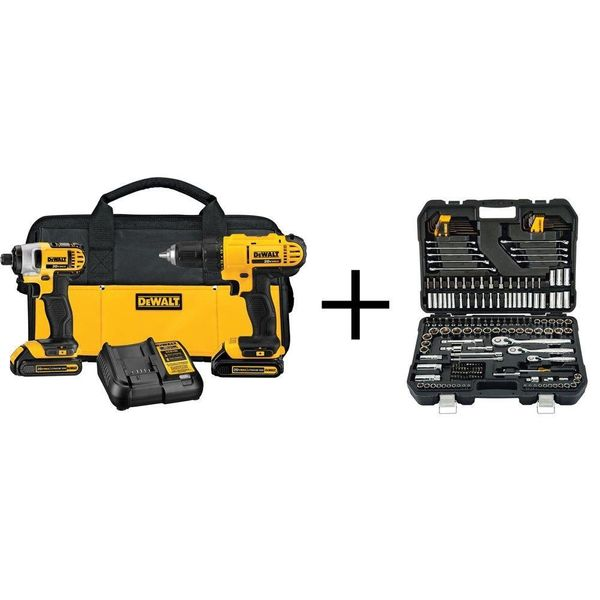 "<a href=""http://r.zdbb.net/u/ubu"">DeWalt 20V Drill & Impact Driver with 200-Piece Mechanics Tool Set $199</a> /&nbsp"