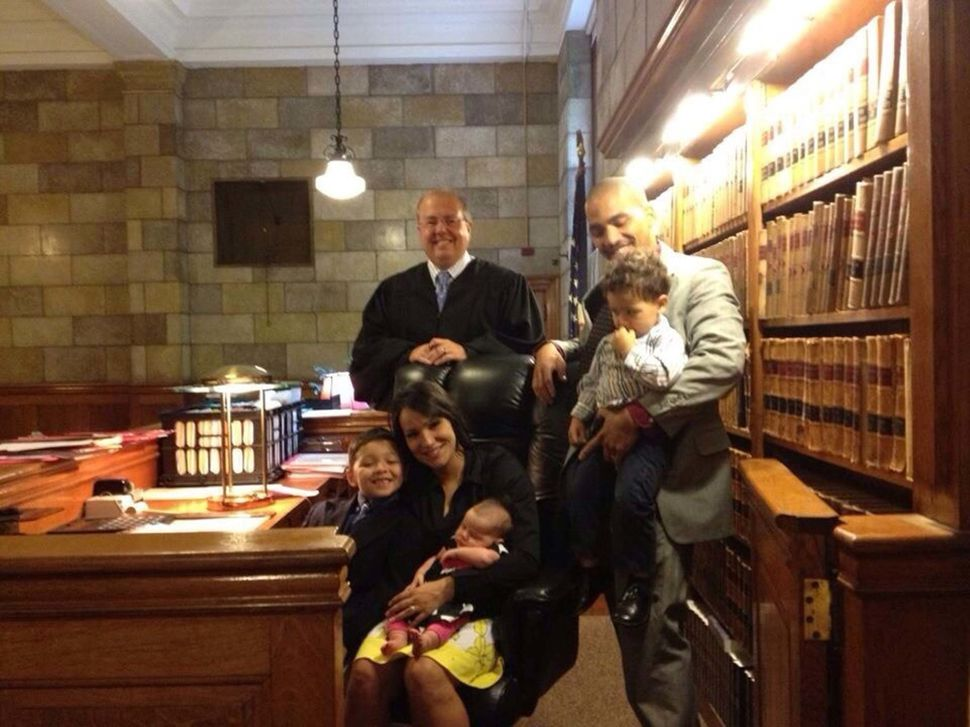 <i>Sarah Edness adopted her husband's biological son in August 2012 after six years of custody battles.</i>