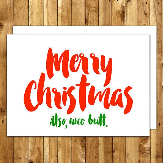 """Buy it <a href=""""https://www.etsy.com/listing/252027866/christmas-card-merry-christmas-also-nice"""">here</a>."""
