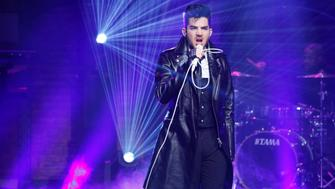 LATE NIGHT WITH SETH MEYERS -- Episode 270 -- Pictured: Musical guest Adam Lambert performs on October 6, 2015 -- (Photo by: Lloyd Bishop/NBC/NBCU Photo Bank via Getty Images)