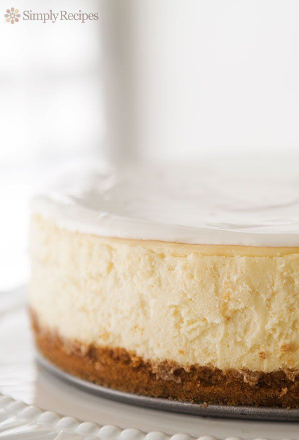 """<strong>Get the <a href=""""http://www.simplyrecipes.com/recipes/perfect_cheesecake/"""">Perfect Cheesecake recipe</a> from Simply"""