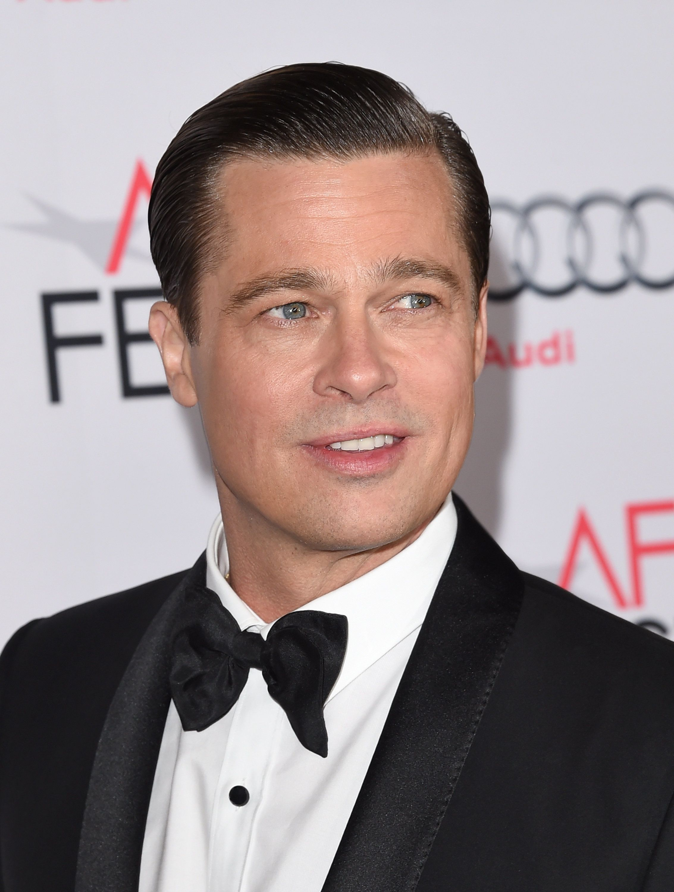HOLLYWOOD, CA - NOVEMBER 05:  Actor-producer Brad Pitt attends the opening night gala premiere of Universal Pictures' 'By the Sea' during AFI FEST 2015 presented by Audi at TCL Chinese 6 Theatres on November 5, 2015 in Hollywood, California.  (Photo by Jason Merritt/Getty Images)