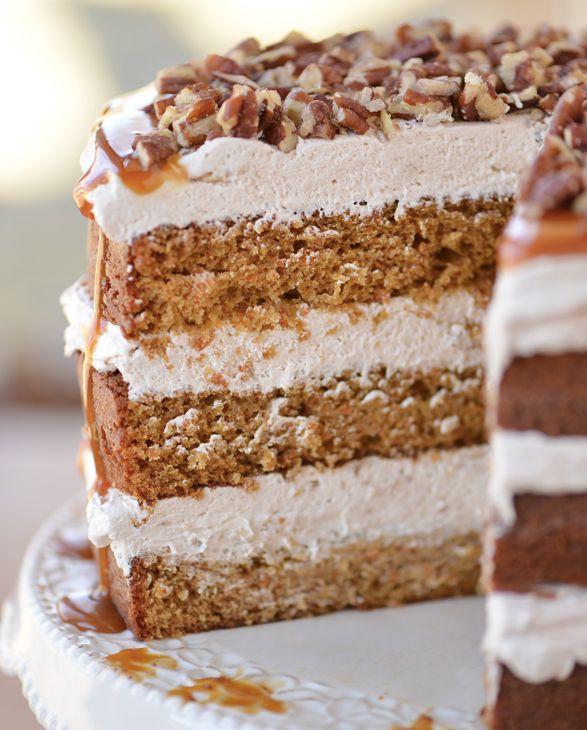 """<strong>Get the <a href=""""http://www.thegunnysack.com/caramel-pecan-carrot-cake-recipe/#_a5y_p=3606561"""" target=""""_blank"""">Carame"""