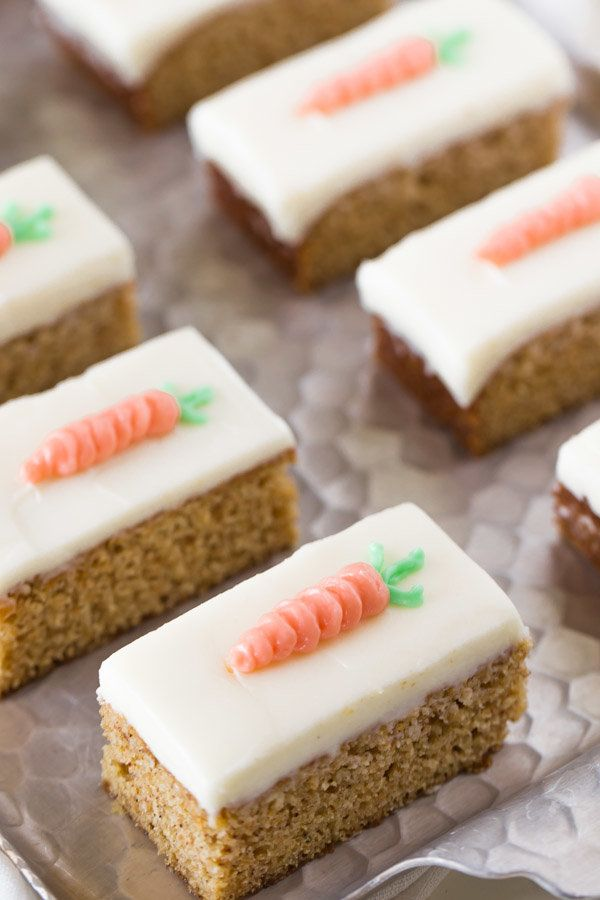 """<strong>Get the <a href=""""http://lovelylittlekitchen.com/carrot-cake-bars-with-cream-cheese-frosting/"""" target=""""_blank"""">Carrot"""