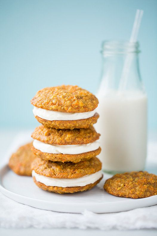 """<strong>Get the <a href=""""http://www.cookingclassy.com/2014/03/carrot-cake-cookies/"""" target=""""_blank"""">Carrot Cake Sandwich Cook"""