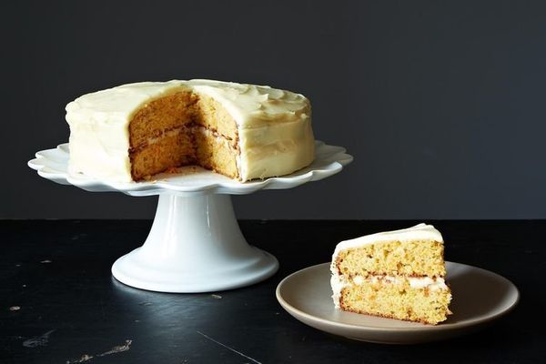 """<strong>Get the <a href=""""http://food52.com/recipes/9214-carrot-cake-with-cardamom"""" target=""""_blank"""">Carrot Cake with Cardamom"""