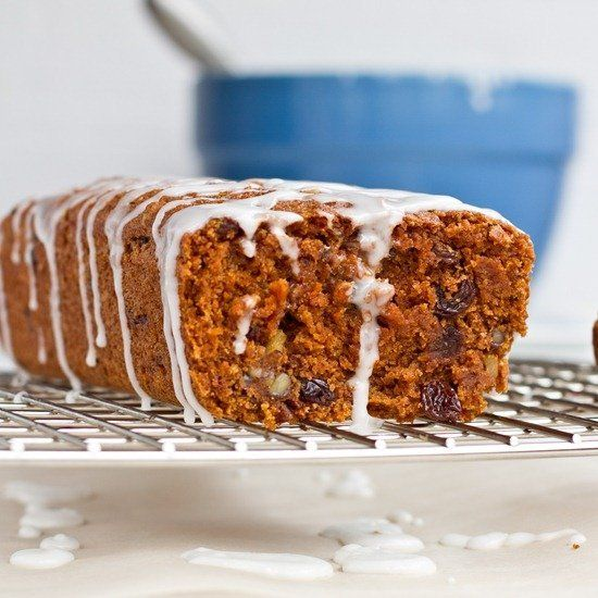 "<strong>Get the <a href=""http://ohsheglows.com/2011/04/20/whole-grain-vegan-carrot-cake-loaf-with-lemon-glaze/"">Whole Grain V"
